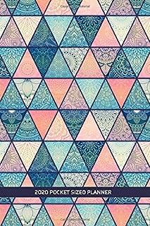 2020 Pocket Sized Planner: Ethnic Abstract Mandala Pane Pattern   One Full Year Calendar   1 Yr   Pocket Purse Sized   Jan...
