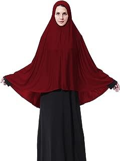 Womens Muslim Long style Hijab Black