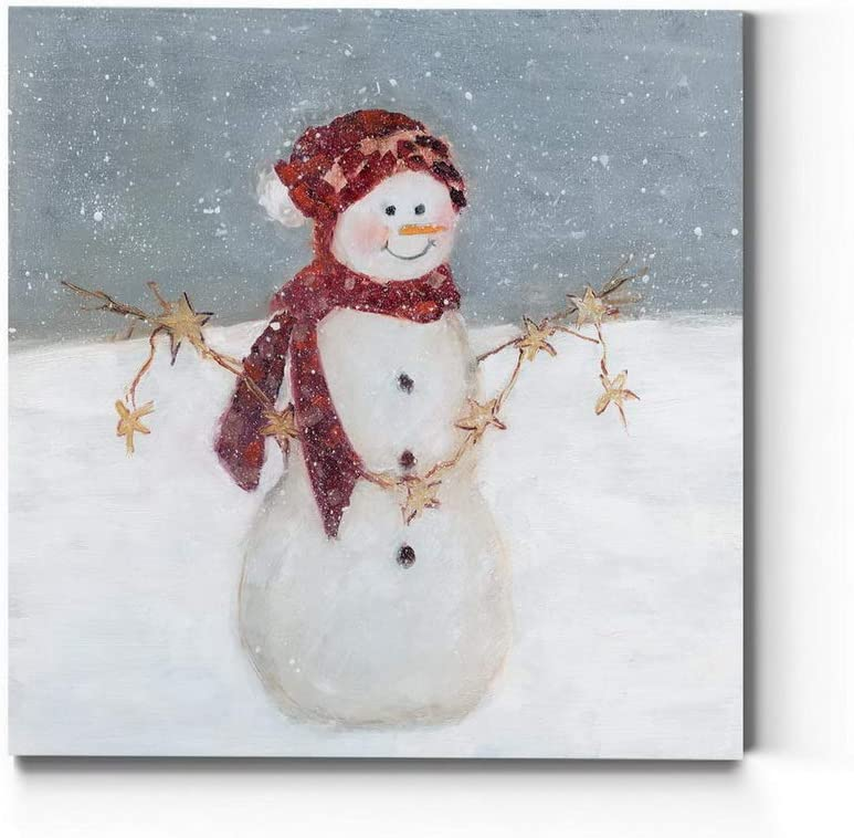 Complete Free Shipping Renditions Gallery Snowman with Stars Wall Super sale period limited Art Cute Christmas