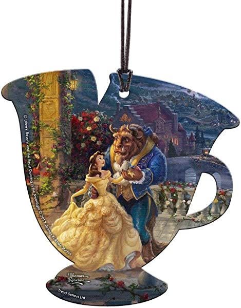 Trend Setters Disney Beauty And The Beast Chip Teacup Shaped Hanging Acrylic