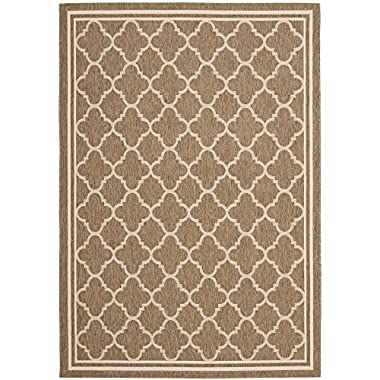 Safavieh Courtyard Collection CY6918-242 Brown and Bone Indoor/Outdoor Area Rug (5'3  x 7'7 )
