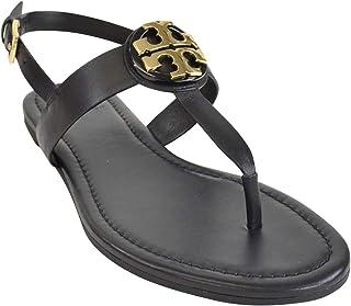 430ddaa9707c Tory Burch Women s 43066 Bryce Vegan Leather Flat Thong Sandals Perfect  Black