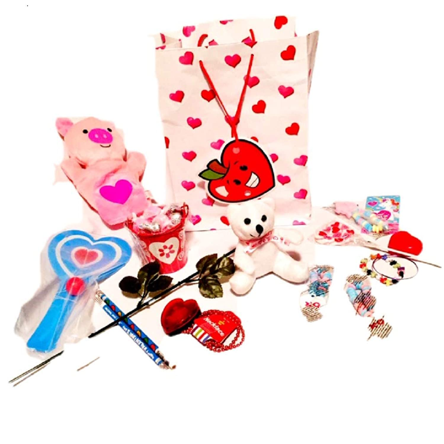 Pre-Filled Valentine's Day Gift Bag for Kids 4yrs and Up 14+ Item Bundle