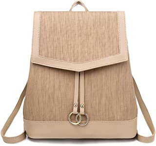 GYYlucky Women's Bag 2019 New Fashion Women's Backpack Travel Backpack (Color : Apricot)
