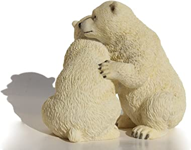 US 5.5 Inch Animal Figurine Two Polar Bear Cubs Collectible Display