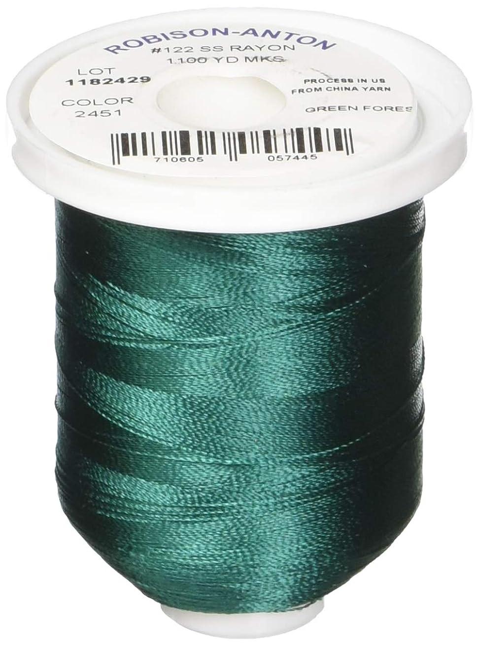 Robison-Anton Rayon Super Strength Thread, 1100-Yard, Green Forest