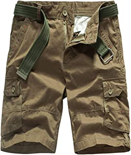 035ece05e8 Palarn Sports Pants Casual Cargo Shorts Men's Fashion Casual Cotton Pocket  Solid Outdoors Work Trouser Cargo