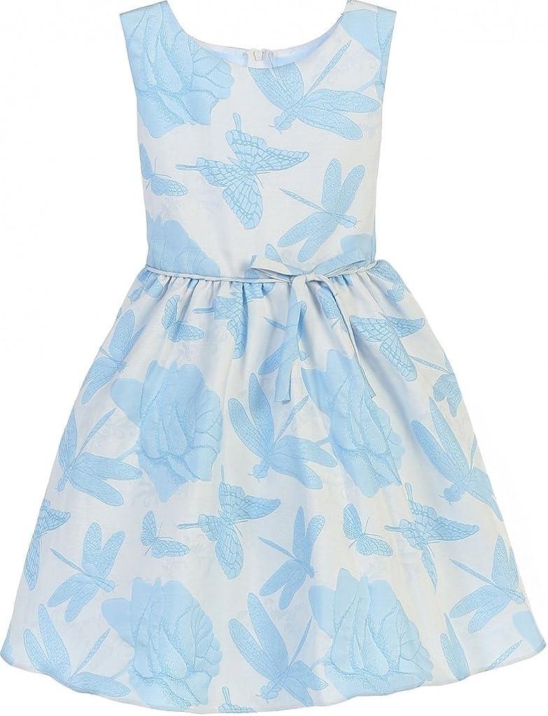 Little Girls Butterfly Dragon Fly Print Easter Flowers Girls Dresses