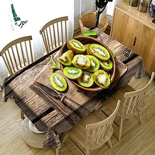 XXDD Decorazione Domestica Tovaglia 3D Mango Giallo/Ciliegia Rossa Serie di Frutta Modello Tovaglia Rettangolare Lavabile A5 140x180 cm