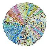 40 stücke 20 cm * 25 cm (7,8 'x 9,8') Cartoon Gedruckt Baumwollgewebe, Baby Kinder Bettwäsche Stoff Textil für DIY, Patchwork, Quilten, Nähen