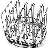 LIPAVI Sous Vide Rack R20 - Rejilla profesional para cocinar al vacío | Accesorios para cocedor de acero inoxidable 316L | plegable y ajustable Redondo, Diámetro: 20,3 cm Altura 16,7 cm