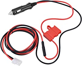 Bewinner 12V DC Power Cord Cable Cigarette Lighter Plug with Double Fuse - 1.5m Power Cable for Mobile Radio Connected to Car Power More Safely and Conveniently