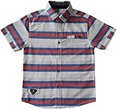 Cneokry Boys Button Down Short Sleeve Shirt Size 8-14 Years