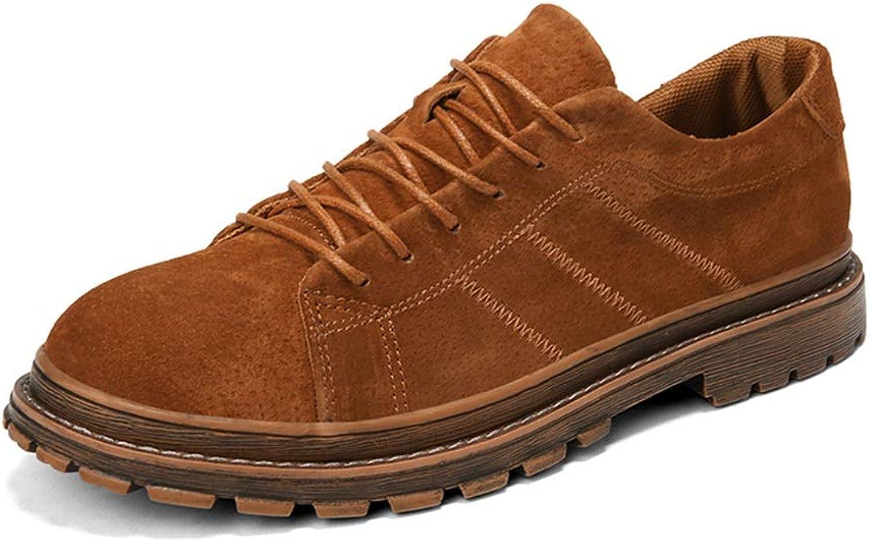 DINGGUANGHE-schuhe Lackleder Herrenmode Bequeme Oxford Casual Retro Plain Herbst und Winter Formale Schuhe Abendgarderobe Dress Schuhe (Farbe   Gelb, Größe   41 EU)