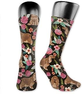 Cocker Spaniel Classics Mid-Calf Stockings Long Tube High Ankle Compression Socks Sports Socks Football Socks for Adults Teens Girls Family Friends