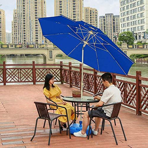 NMDD Garden Sun Umbrella Outdoor Parasol, Sun Protection Patio Beach Umbrella With Crank Handle Tilt Function