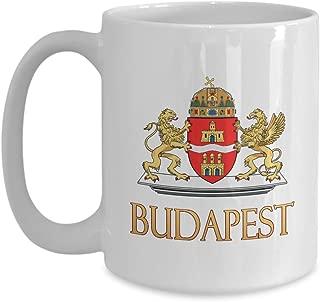 Budapest, Hungary - Coat of Arms: Ceramic Coffee Mug