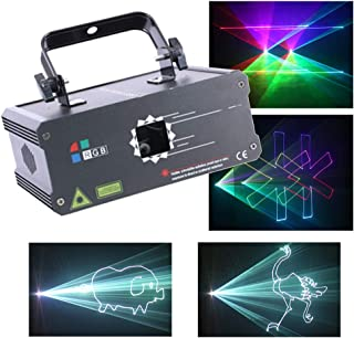 Sumger Professional DMX512 RGB LED Stage Lighting Full Color Animation DJ Disco Laser Scanner Projector Effect party lights illumination Show Light Sound Activated for Festival Bar Club Wedding