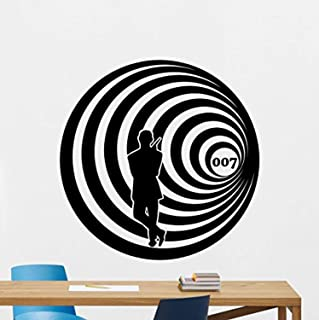 James Bond Wall Decal Agent 007 Vinyl Sticker Spy Movie Wall Art Design Housewares Kids Room Bedroom Decor Removable Wall Mural 58RT