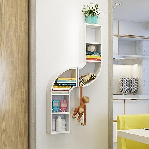 ZHAS Estantería de Parojo Estantes de tubería montados en la Parojo Sala de Estar Dormitorio Partición en la Parojo Marco Colgante DIY Combinación Libre (Color  blanco 156  65  15cm)