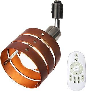 Szbritelight ライティングレール ライト スポットライト 1灯 E26 調光調色 60W形 LED電球付き リモコン付き 天井照明器具 配線ダクトレール用