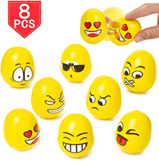 PROLOSO Roly Poly Toys Emoji Tumbler Nodding Dolls Tilting Balls 8 Pcs