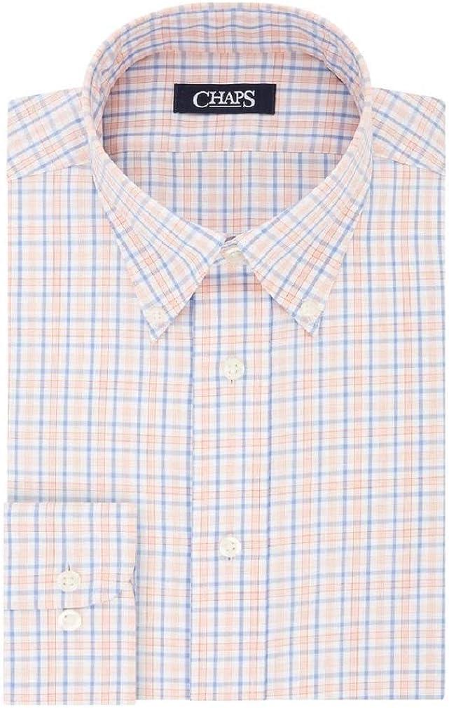Chaps Men's Slim-Fit Plaid No-Iron Dress Shirt