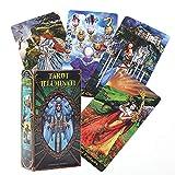 78 Piezas de Cartas de Tarot, Cartas de Tarot Illuminati, versión en inglés, Interesante Juego de Cartas de adivinación