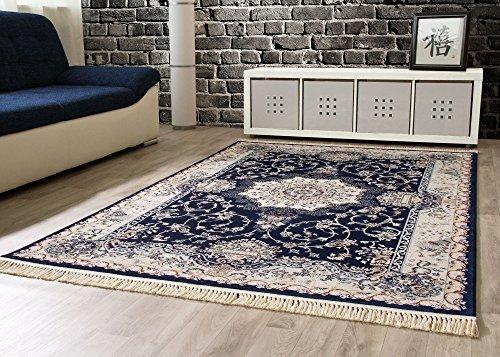 Orientteppich Adana Vintage Wohnzimmerteppich in Dunkelblau, Größe: 240x330 cm