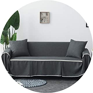 Little Happiness- 1pc Solid Color Fabric Sofa Cover Universal Sofa Towel All-Inclusive Dust Cover Couch Home Decoration,Color 15,4-Seater 215-350cm