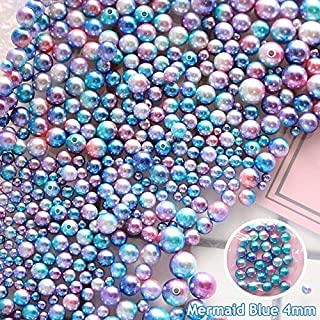 DadaCrafts(TM) 1000PCS 4mm Blue Mermaid Faux ABS Pearl Beads for Jewelry Making