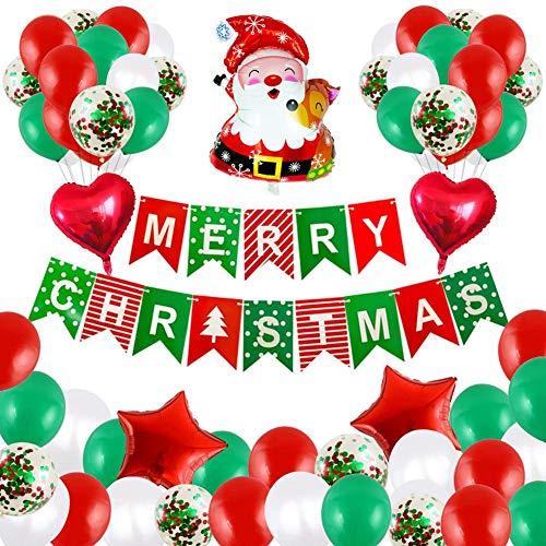 Demarkt Juego de globos decorativos navideños con lámina de helio, para decoración de fiestas de Navidad