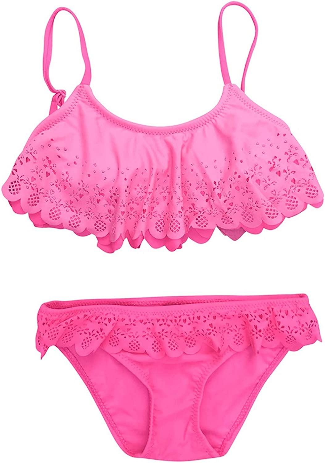Two Piece Lace Hollow Out Swimsuits Tulsa Mall for Fashion Shoulde Off Ruffle Girls