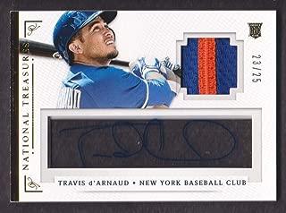 2014 Panini National Treasures Baseball Signature Materials Patch #96 Travis d'Arnaud Auto 23/25