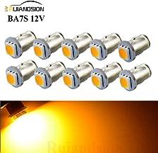 Ruiandsion BA7S - Bombillas LED para salpicadero (12 V, 5050, 1 SMD, 30 lúmenes, luz LED amarilla, 10 unidades)