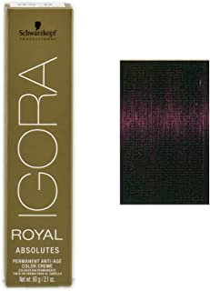 Schwarzkopf Professional Igora Royal Absolutes Hair Color, 4-90, Medium Brown Violet Natural, 2.1 Ounce