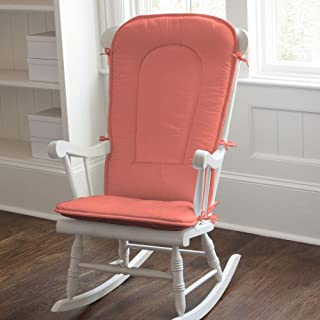 Carousel Designs Solid Coral Rocking Chair Pad