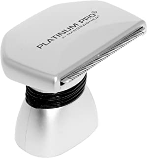 PLATINUM PRO by MANGROOMER - New Back Hair Shaver Complete Attachment Head with Shock Absorber Neck and 1.8 Inch Blade Des...