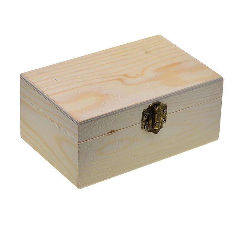 予防接種する羊リラックスしたHellery 木箱 ボックス 宝石箱 収納ボックス 小物入れ アクセサリー 整理 収納盒 塗装されていない DIY