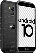 4G Rugged Phones, 2020 Ulefone Armor X7 Android 10 Dual SIM, Rugged Smartphone Unlocked, IP68/69K Waterproof Smartphone, 13MP + 5MP Cameras, 2GB + 16GB, NFC, OTG, Face Unlock, Finger Reader - Black