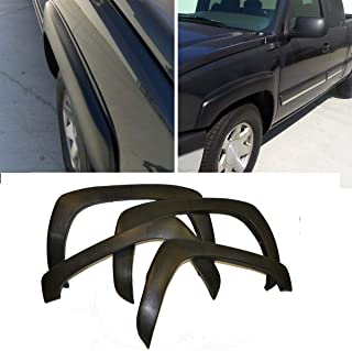 Riseking Set of 4 Fit 1999-06 Chevy GMC Silverado Sierra 1500 2500 3500 & 2000-06 Chevy Avalanche Suburban 1500 2500 & 2000-06 GMC Yukon XL 1500 2500 Fleetside Qty4 Fender Flare Wheel Arch Protector
