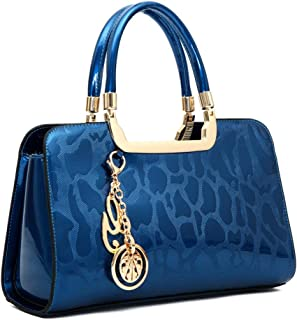 Women's Patent Leather Handbags Designer Totes Purses Satchels Handbag Ladies Shoulder Bag Embossed Top Handle Bags