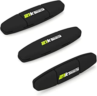 21K Sports Tennis Vibration Dampener- Set of 3-Tennis Shock Absorber for Strings- Best for Tennis Racket, Premium- Durable & Long-Lasting- Great for Tennis Players (Green)