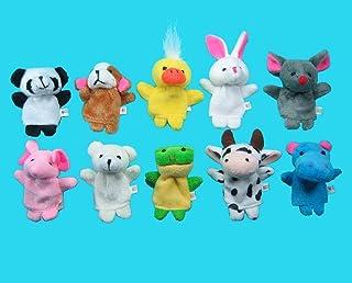 Tzou Soft Plush Animal Finger Puppet Set (10 Piece)