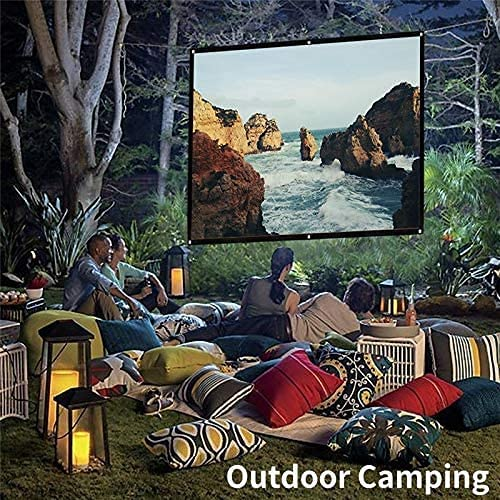 HGSDKECFS Portable Projection Screen Simple Folding Screen Portable Home Outdoor KTV Office 3D HD Proyector Projection Screen