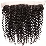 Beauty Forever Malaysian Curly Hair 1piece 13x4 Free Part Lace Frontal 100% Unprocessed Human Virgin Hair Natural Color(18 inch)