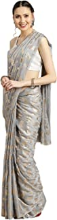 Ishin Georgette with Blouse Piece Saree (Ishinsc-69050_Grey_Free)