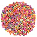 Lainrrew 2.2 lb Mini Rainbow Pebble Stones, Small Chips Gravel Outdoor Decorative Stones for Potted Plants, Aquariums, Lanscaping, Vase Fillers (4-6mm)