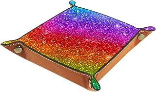 BestIdeas Panier de Rangement carré 20,5 × 20,5 cm, avec lèvres colorées, boîte de Rangement sur Table pour la Maison, Le ...