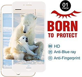 PERFECTSIGHT Glass Screen Protector Compatible Apple iPhone 7/8, [HD Eye Care] 55% Anti Blue Light Filter